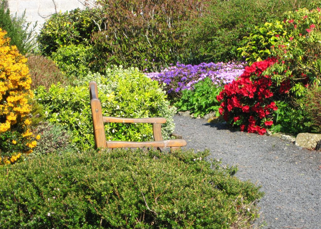 The beautiful garden at Burnbrae.