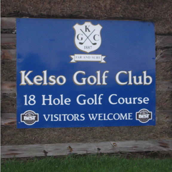 Kelso Golf Club sign.