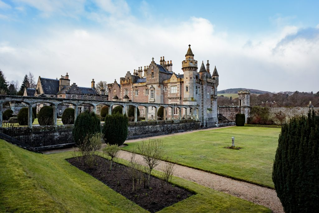 Abbotsford house and gardens.