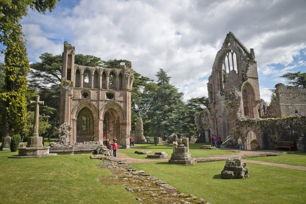 Dryburgh Abbey in the Scottish Borders