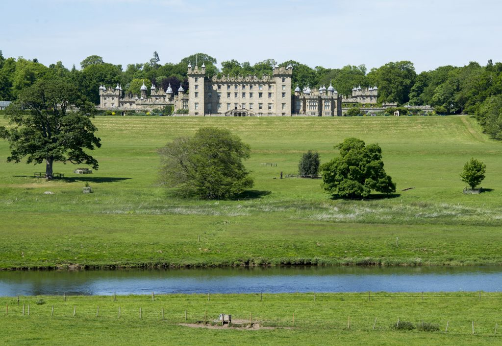 A view of Floors Castle from across the river.