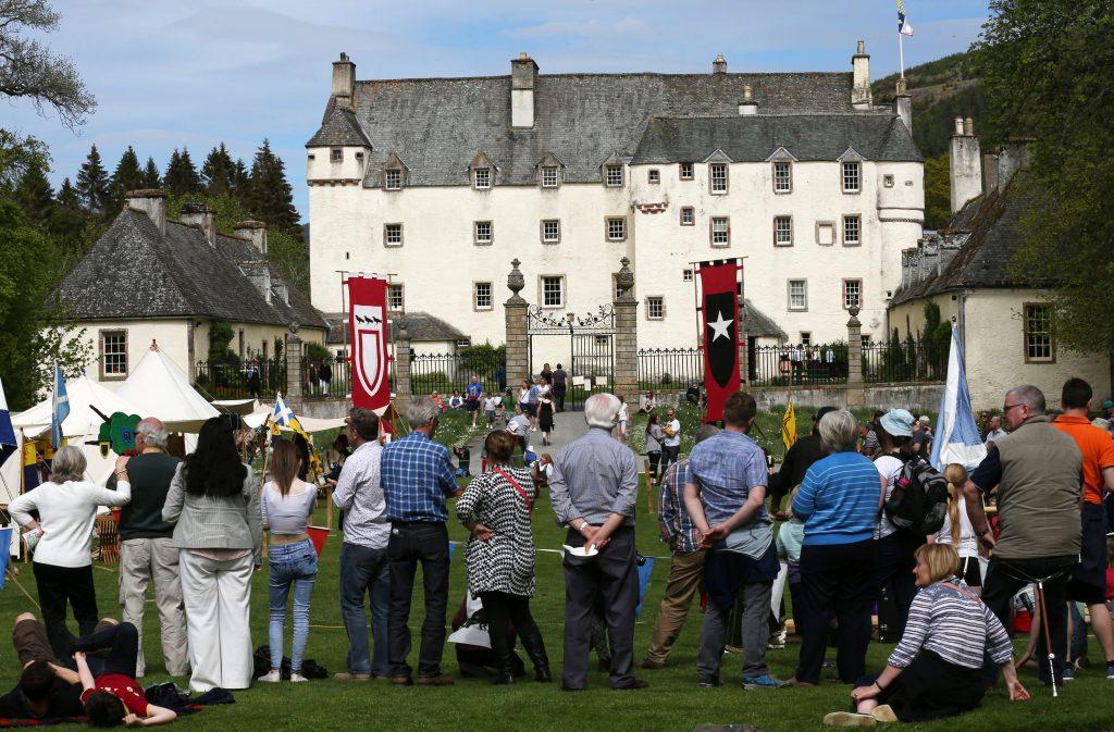 A medieval festival at Traquair house.
